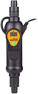 X&MX 220V Ajustable Acuario Sumergible Calentador Externo Agua Varilla De Calefacción Controlador De Temperatura para El Tanque De Pescado, 300W 500W (300W),300W
