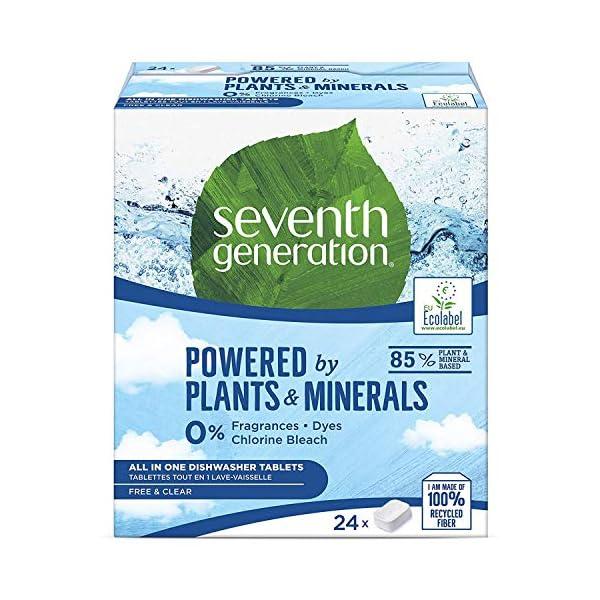 Seventh Generation Free&Clear – Pastillas para Todo en Uno – 24 Pastillas