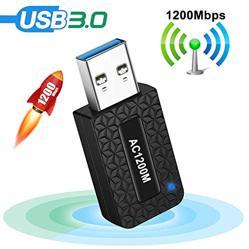 classement un comparer Adaptateur USB 3.0 Wi-Fi AC1200 pour PC, Adaptateur Wi-Fi USB 300 Mbit / s + 867 Mbit / s, 5 GHz / 2,4 GHz,…