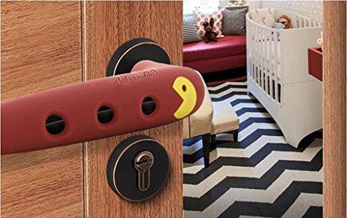 Poignée de porte en silicone pour bébés Protection anti - collision Chambre d 'accueil Poignée de porte Housse de protection anti - collision Ensembles anti - (couleur : Marron)