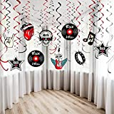 30Ct Rock and Roll Theme Party Foil Swirl...