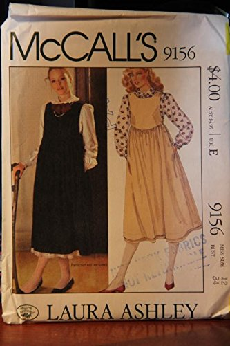 McCall's Pattern 9156 Size 12 Bust 34 / Laura Ashley / Misses' Blouse And Jumper