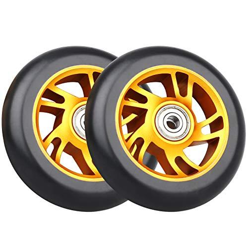 VOKUL Ruedas de repuesto para patinete Pro Scooter Neo de 100 mm, con rodamientos ABEC-9, ruedas de 100 x 24 mm, aptas para RazorApollo/Cox/Fuzion y la mayoría de los scooters de estilo libre, un par