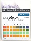 wine acidity chart - Plastic pH Test Strips, Universal Application (pH 0-14), 100 Strips