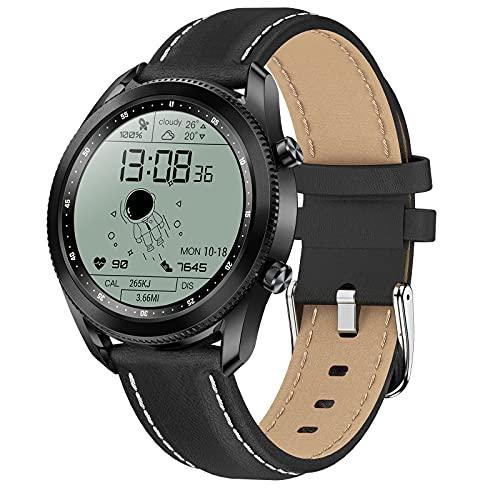 QFSLR Smartwatch, Reloj Inteligente con Telefonía Bluetooth Monitor De Frecuencia Cardíaca Monitor De Presión Arterial Monitoreo De Oxígeno En Sangre Control De Música,Negro