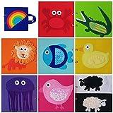 LIBRO SENSORIAL TEXTURAS Y COLORES. Hecho a mano. Arco iris. Estimulación visual. Tacto. Juego colores. Aprender animales.