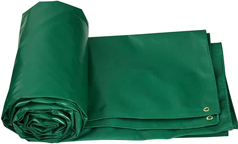 SZ JIAOJIAO étanche Tissu Vert Double-Face Anti-Gel Bache De Prougeection Remorque Set Pique-NIC Camping Easy Folding PVC Bache,6×5M