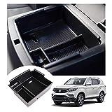 LFOTPP Rexton Musso Apoyabrazos Consola Central Bandeja, Caja de Almacenamiento Organizador coche Interior Accesorios