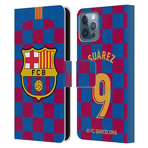 Head Case Designs Oficial FC Barcelona Luis Suárez 2019/20 Jugadores Kit Local Grupo 1 Carcasa de Cuero Tipo Libro Compatible con Apple iPhone 12 / iPhone 12 Pro