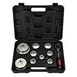 Mofeez Oil Filter Cap Wrench Metric 10-Piece Socket Set Tool Kit 24mm to 65mm for BMW, Mercedes, VW Paper Toyota 1.8L 2.5L 5.7L Engine