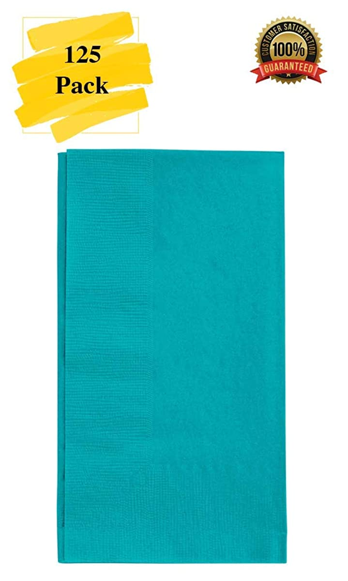MM Foodservice 125 Count 2 Ply Paper Dinner Napkins perfect for Weddings, Parties, Dinners or Events (TEAL)
