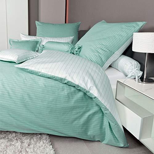 Janine Design Mako-Satin Bettwäsche modern Classic Jade Bettbezug einzeln 200x220 cm