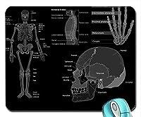 アートスカルサイエンス医学解剖学グレースケール骨マウスパッドコンピューターマウスパッド