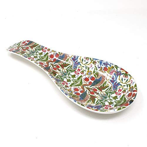 Large Melamine Spoon Rest featuring the famous 'Strawberry Thief' designs of William Morris