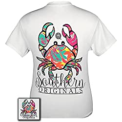 Girlie Girls Crab Pattern Short Sleeve T-Shirt