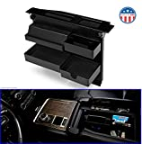 MX Auto-Salient Console Organizer for Select Ford Trucks & SUVs-Compatible with |Ford F150 (2015-2020) | F250, F350, Raptor (2017-2020) | Expedition (2018-2020) | Fits ONLY Vehicle w Bucket Seats