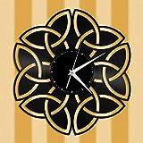 ZZLLL Reloj de Pared de Vinilo con Nudo Celta, 12 Pulgadas para Amigos, decoración de la habitación, diseño Retro, Oficina, Bar, Dormitorio, hogar, Art Deco, hogar