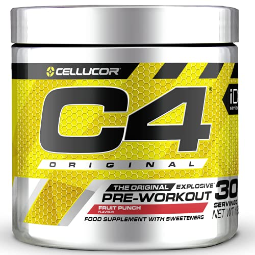 Cellucor C4 Original - Pre-Workout-Booster - Fruchtpunsch | Getränkepulver für Energy Drink | 150 mg Koffein + Beta-Alanin + Kreatin-Monohydrat | 30 Portionen