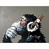 Leaixiang Orangután Pintar por Numeros Sencillo 15.6x19.5 Pulgadas Cuadros Al Oleo con Numeros para Adultos, Pintar por Número(Sin Marco)