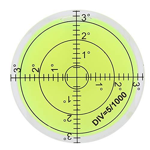 Fafeicy Nivel de burbuja redondo de 60 mm, Herramienta de medición de diámetro de burbuja de nivel, con escala, para cámara Plataforma Plano de equilibrio Medición