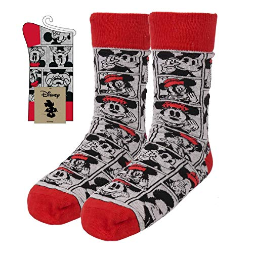 CERDÁ LIFE'S LITTLE MOMENTS Mujer Calcetines Minnie Mouse Licencia Oficial Disney, Blanco y Negro, Estandar