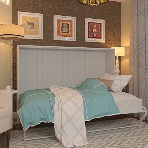 Schrankbett SMARTBett Klappbett Gästebett Wandbett horizontal verstecktem von 120x 200cm Horizontal, Schrank Bett, das Bett Wandhalterung klappbar, weiß, 120_x_200