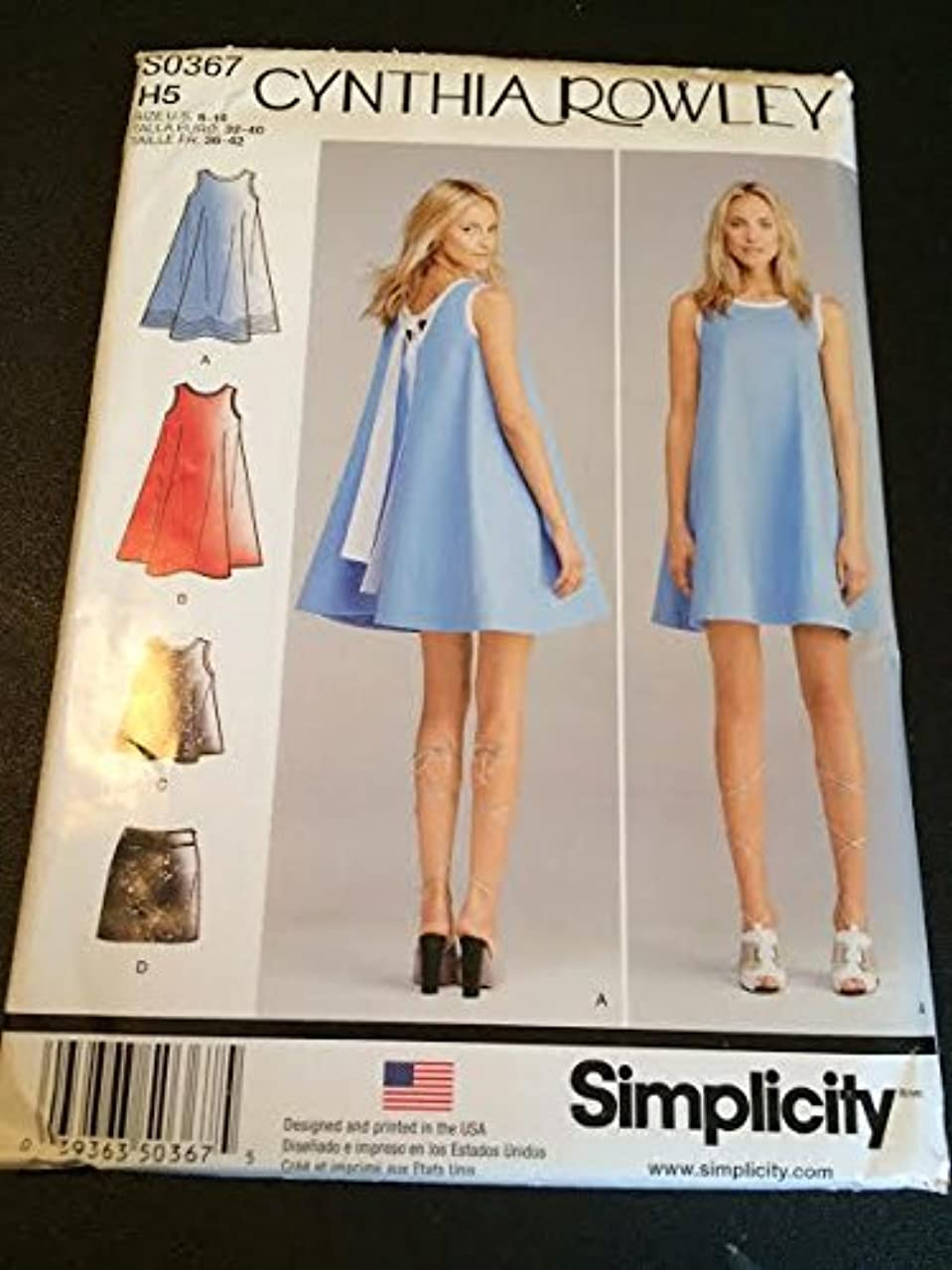 Simplicity S0367 Sewing Pattern, Misses' Dress or Top and Skirt, Size H5 (6-14)