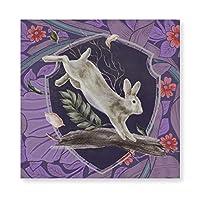 INOV ウィリアムモリスフォレストラビットフローラアールヌーボー 絵画 壁飾り アートパネル インテリア 壁キャンバス絵画 壁アート 木枠セット 横40cm*縦40cm*1