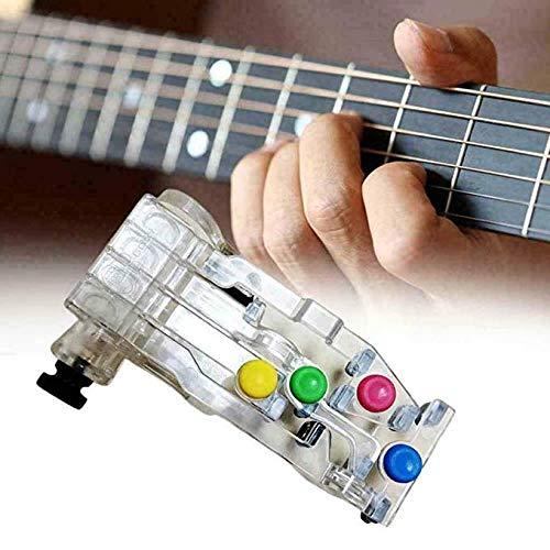 Lazy artefact pijn-proof vingertoppen spelen gitaar hulp voor beginnende gitaar leren systeem, klassiek akkoord Buddy gitaar leren systeem, leren hulp akkoord Buddy met echte tune chromatische tuner (wit)