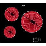 Whirlpool AKT8030NE plaque - plaques (Intégré, Céramique, verre-céramique, Noir, toucher,...