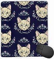 マウスパッド 猫の顔 ゲーミング オフィス最適 高級感 おしゃれ 防水 耐久性が良い 滑り止めゴム底 ゲーミングなど適用 マウスの精密度を上がる( 22×18×0.3cm )