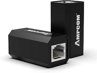 AMPCOM RJ45 Coupler,Inline Coupler,ethernet Coupler,Female to Female,Ethernet Cable Extender Adapter for Cat6/Cat5e/Cat5 3...
