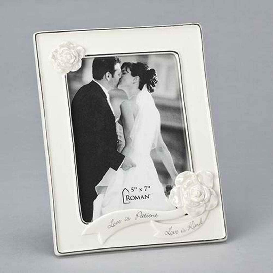 Roman 13224 Cheap mail order specialty store Wedding Anniversary Frame Holds 5 SALENEW very popular! 7-inch 8 X Photo