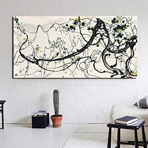 KWzEQ Berühmte Maler Leinwand Kunstdrucke Wohnzimmer Dekoration Malerei Moderne Hauptwandkunst Ölgemälde Poster,Rahmenlose Malerei,40x80cm