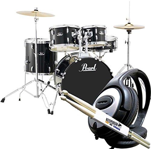 Pearl Roadshow RS505C C31 Black Schlagzeug Drumset + keepdrum Drumsticks & Kopfhörer