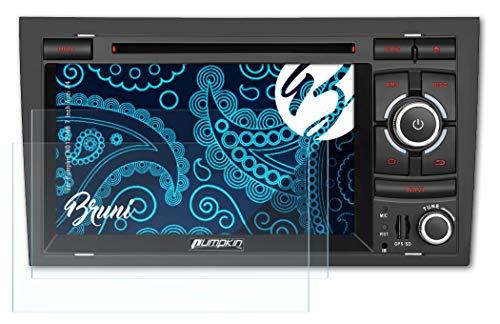 Bruni Protecteur d'écran pour Pumpkin ND1274B 7 inch Audi A4 Film Protecteur, Cristal Clair Écran Protecteur (2X)
