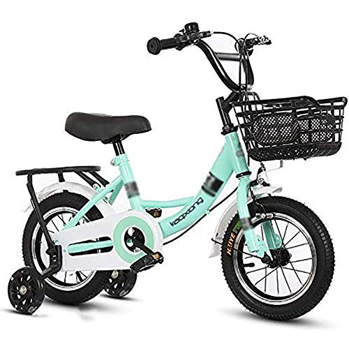 GBX Bike,Scooter,Portable Children Bike Aluminum Alloy Rim 12/14/16/18 inch V-Brake with with Back Seat Fashion Car Basket Outdoor Sports Bicycle,Pink,16 Inches,12 Inches