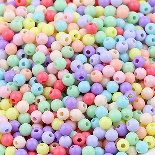 Colorato Acrilico Perle 300pcs 12mm Perline Artigianali Perline di Plastica per la Creazione di Gioielli, Oggettistica per la Casa, Braccialetto per Bambini, Collana, Ciondolo