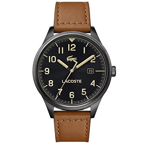 Lacoste Herren Analog Quarz Uhr mit Leder Armband 2011021