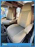 Fundas de asiento compatibles con autocaravana, conductor y copiloto. Número de color: 804 (beige)