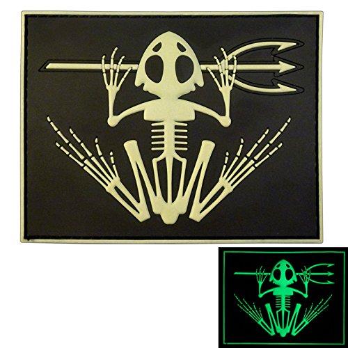 2AFTER1 US Navy Seals Bone Frog Skull Skeleton DEVGRU Morale PVC 3D Touch Fastener Patch