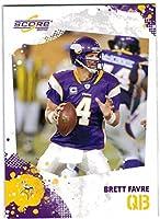 2010 Score Minnesota Vikings Team Set with Brett Favre & Adrian Peterson - 12 Cards