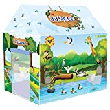 Tent house for kids to encourage imaginative and creative play; ideal for indoor as well as outdoor Features doors for an airy atmosphere and has bright colours to fuel interest among kids Item Dimensions LxWxH:- 91.5 x 68.3 x 104.1 Centimeters, Safe...