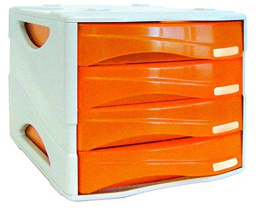 Arda TR15P4PAR Cassettiera, Arancio