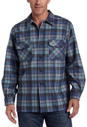 Pendleton Men's Long Sleeve Board Shirt, Blue/Green Original Surf Plaid-30789, LG