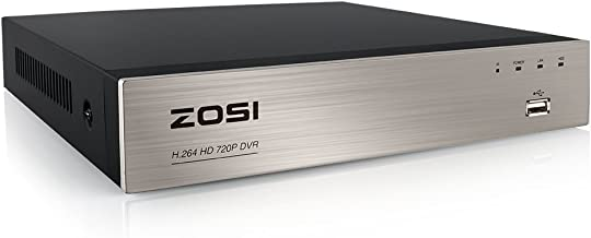 ZOSI 8 Channel 720P HD-TVI Standalone H.264 CCTV Security Surveillance DVR Record System NO Hard Disk (QR Code Scan Quick Access, Smartphone& PC Easy Remote Access) (Renewed)