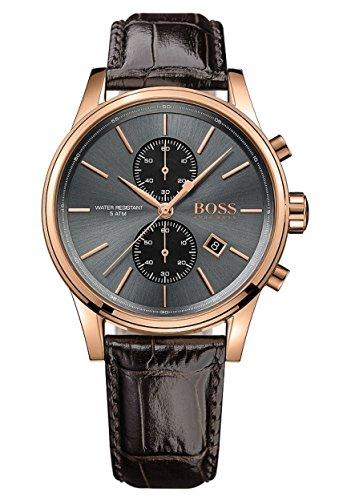Hugo BOSS - Reloj cronógrafo para hombre de cuarzo con correa de piel - 1513281