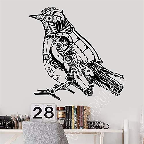 JXFM 92x96cm DIY Benutzerdefinierte Größe und Farbe Steampunk Vogel mechanische Kunst Dekoration Aufkleber Vinyl Wandtattoo Dekoration entfernbare Wohnzimmer Poster