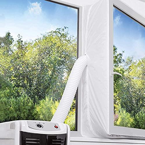 Fensterabdichtung für Mobile Klimageräte und Abluft-Wäschetrockner, Hot Air Stop Passend zu Jedem Klimagerät und Allen Schlauchgrößen (300)