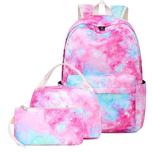 Zaino leggero resistente all'acqua Galaxy per le donne Travel Daypack 15,6 pollici Laptop Bag, rosa